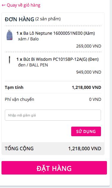Nhập mã giảm giá tại TOPMOT.vn
