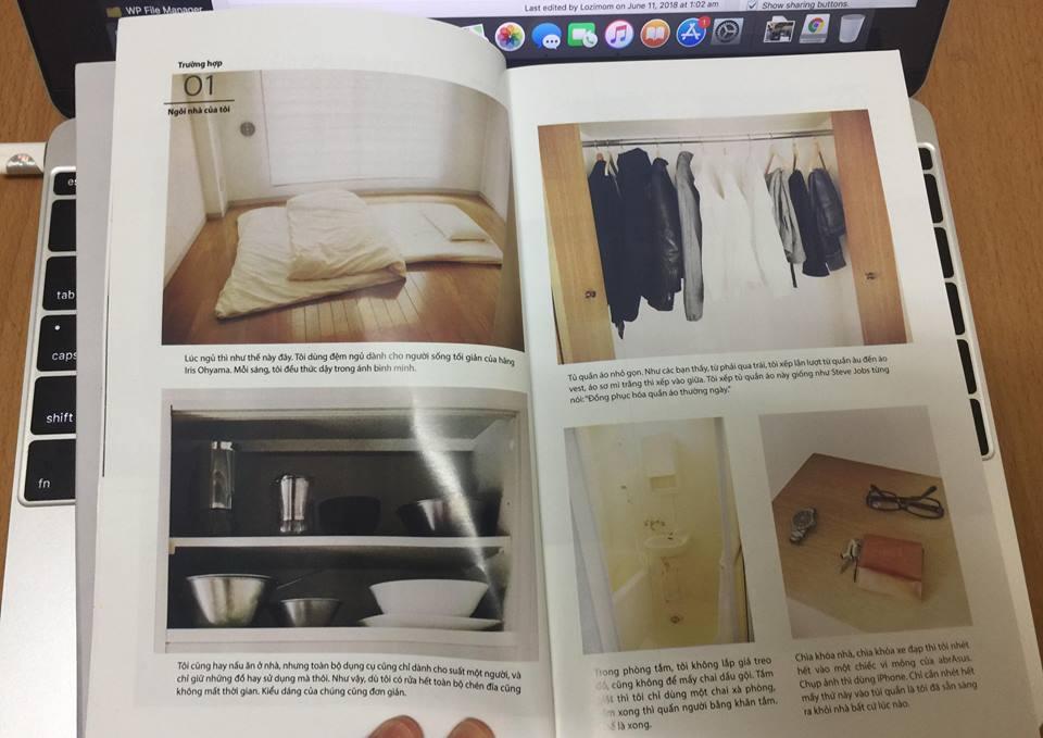 Hình ảnh lối sống tối giản trong cuốn sách