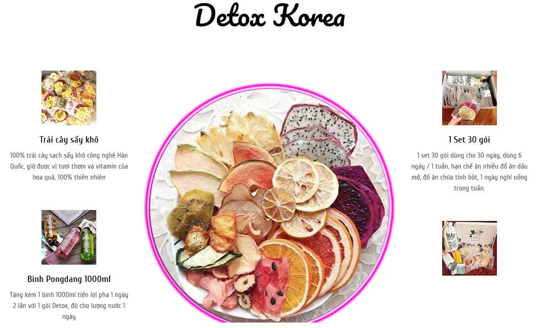 thanh phan nuoc hoa qua giam can detox korean