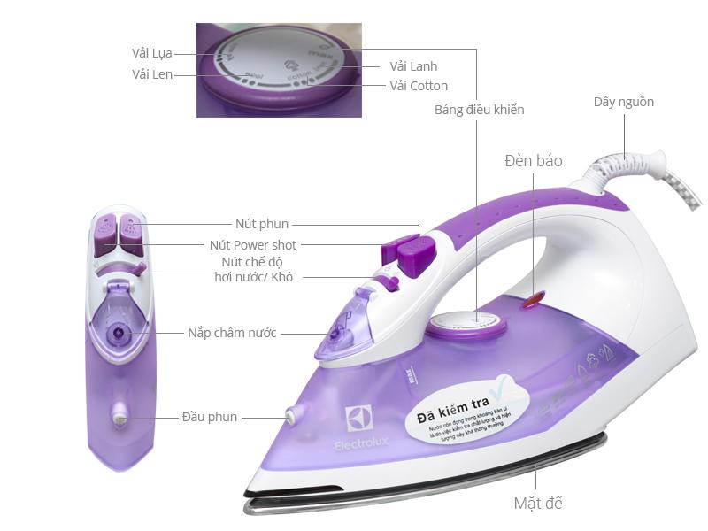 Bàn là hơi nước Electrolux ESI4015