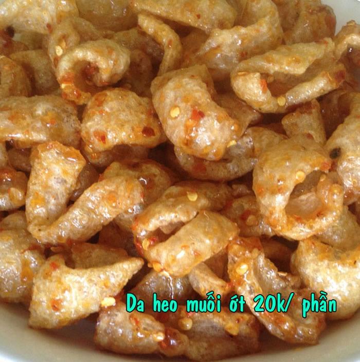 Menu bán chạy Da heo muối ớt (Nguồn: Facebook Tây Ninh Food - Đặc sản Tây Ninh)