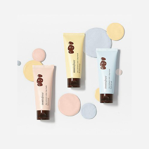mat na innisfree volcanic color clay mask water gel type