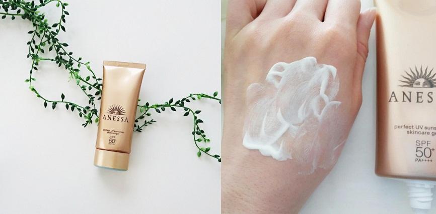 Kem chống nắng Anessa dạng gel thẩm thấu nhanh, không hề bết dính, chống trôi hiệu quả.