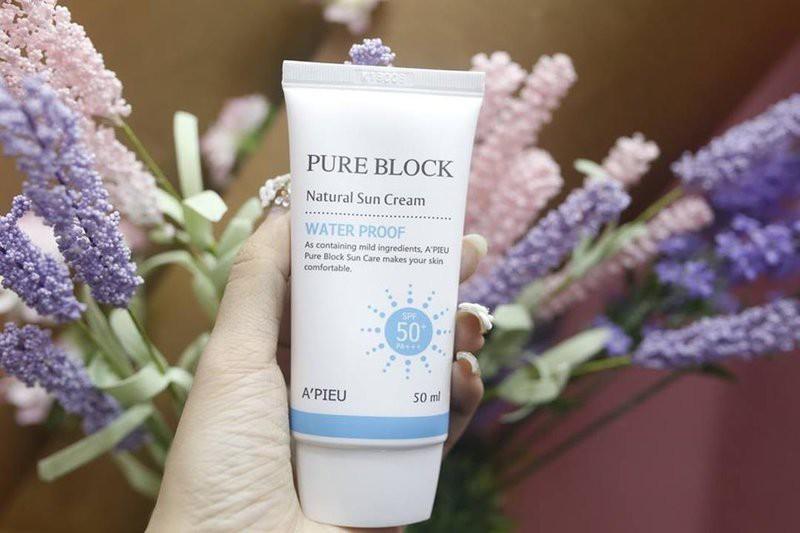 A'pieu Pure Block Natural Water Proof Sun Cream SPF 50+ PA+++
