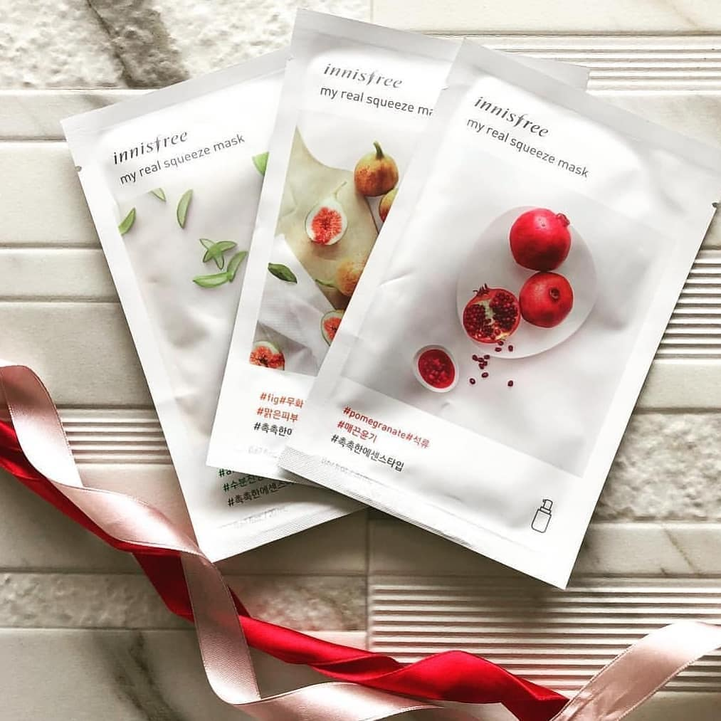 review mặt nạ innisfree my real squeeze mask