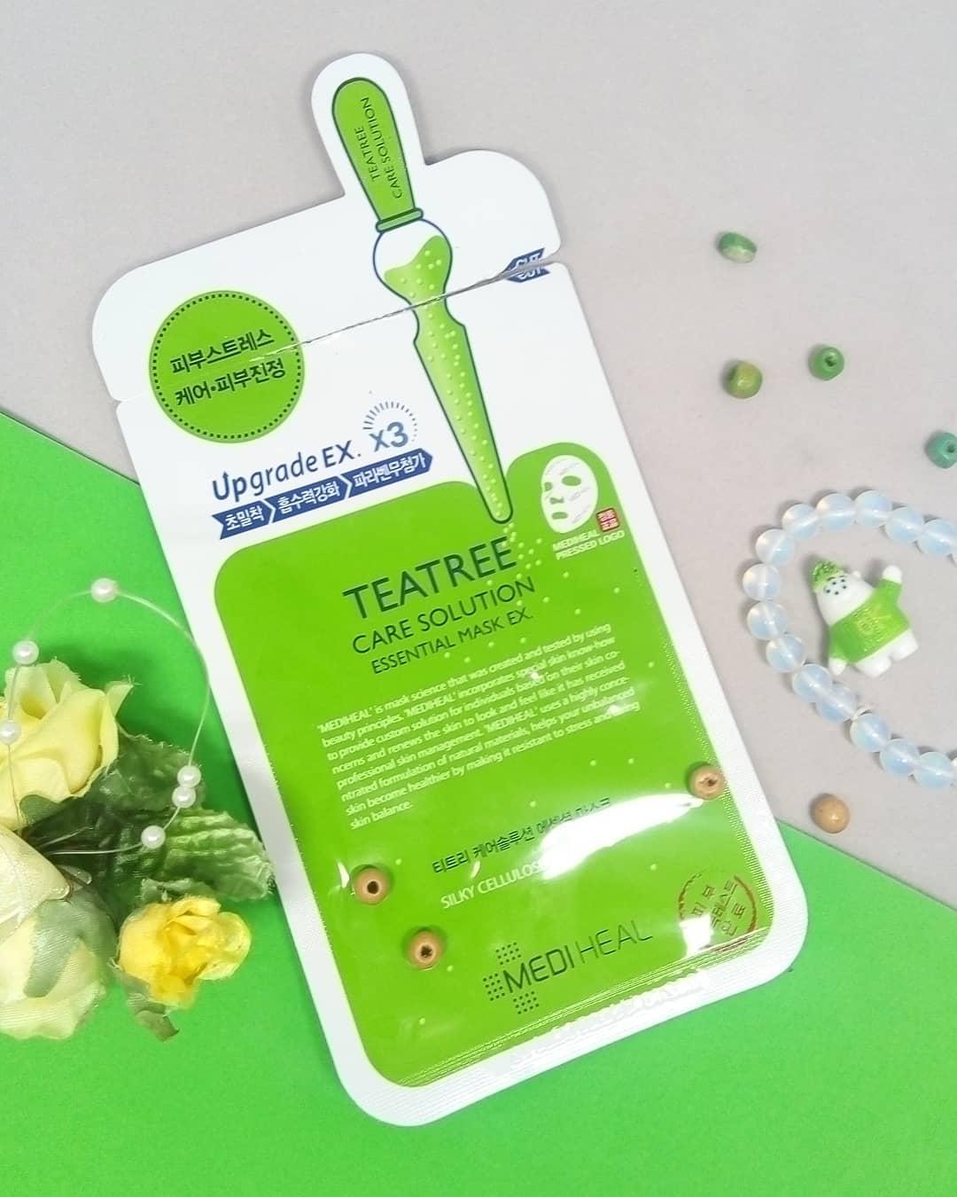 review mặt nạ mediheal tea trea về bao bì
