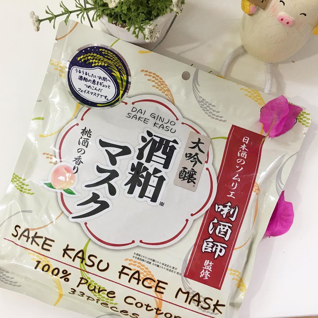 review mặt nạ sake kasu face mask 33 miếng, cách dùng mặt nạ sake kasu face mask 33 miếng