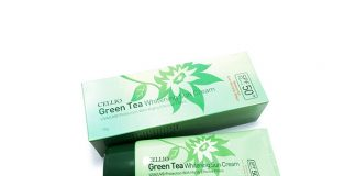 Review kem chống nắng Cellio green tea