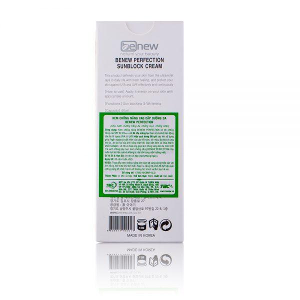 review kem chong nang Benew Perfection Sunblock Cream