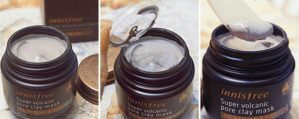 review mat na dat set Innisfree Super Volcanic Pore Clay Mask
