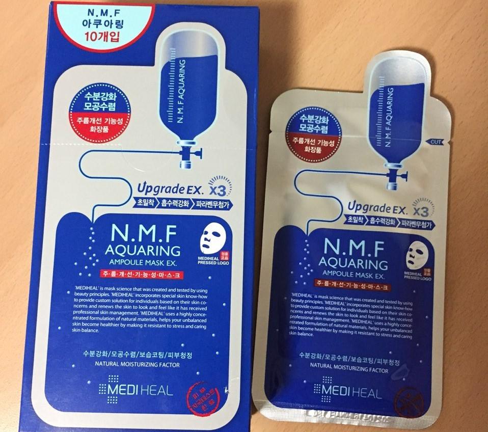 Mediheal N.M.F Aquaring Ampoule Mask Ex danh cho da kho