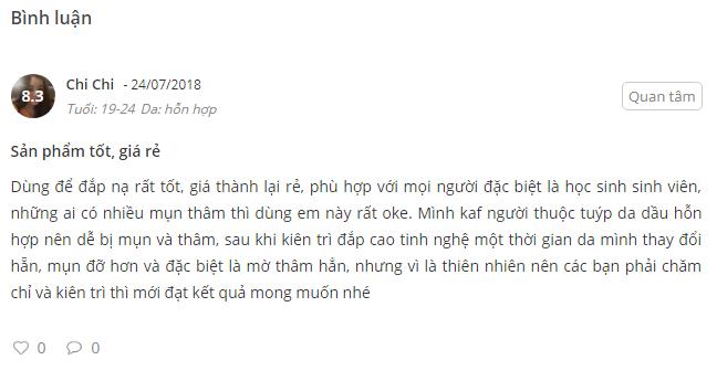 Nhan xet cua nguoi dung tren website sheis.vn