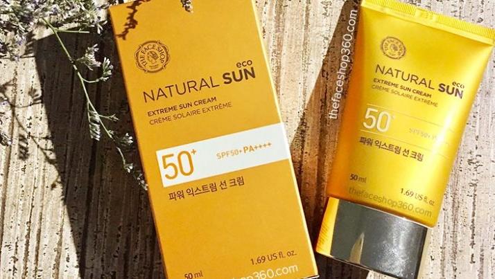 Review kem chong nang Natural Sun Eco ve thanh phan