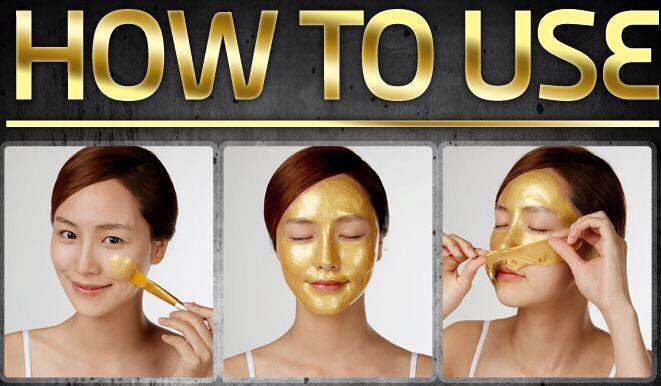 cach dung mat na 24k gold mask