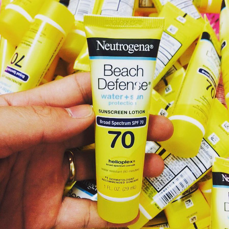 review kem chong nang neutrogena beach defense