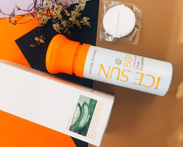 review kem chống nắng ice sun trắng