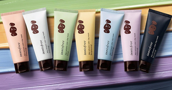 mặt nạ innisfree mẫu mới volcanic color clay mask