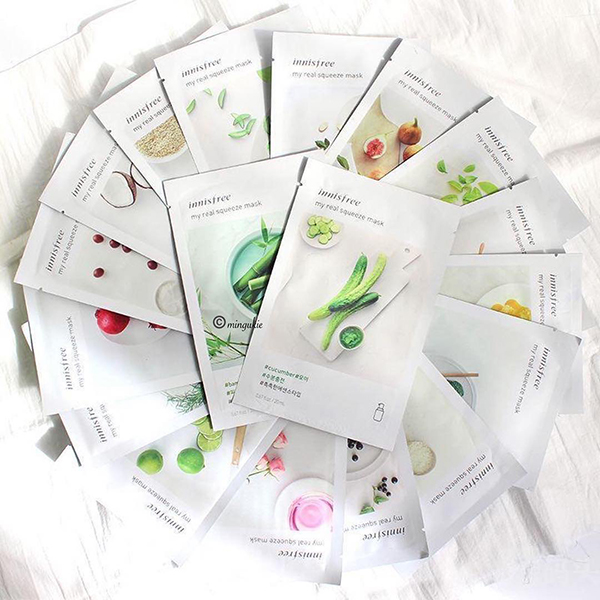 mặt nạ innisfree mẫu mới my real squeeze mask