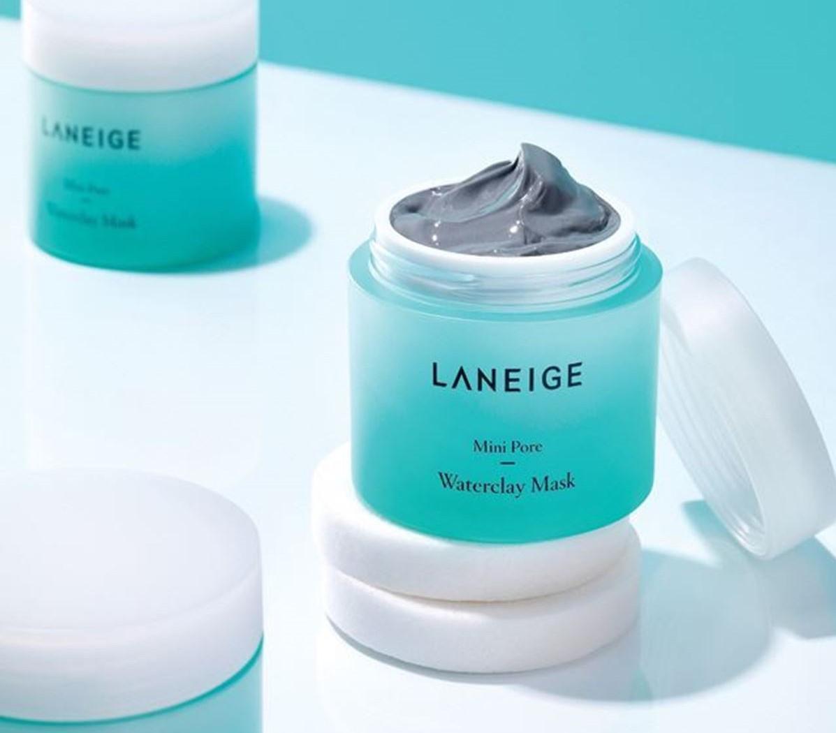 review mat na cham soc da Laneige Mini Pore Waterclay Mask