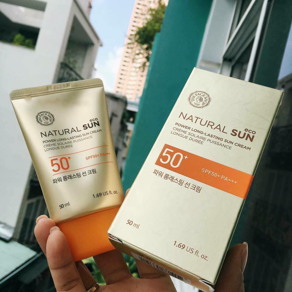 The Face Shop Natural Sun ECO Power Long-Lasting Sun Cream SPF50+ PA+++ co gia kha cao