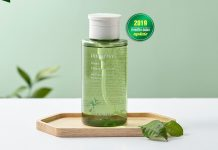 nuoc tay trang Innisfree Green Tea Cleansing Water review