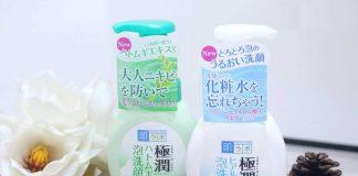 review sữa rửa mặt hada labo gokujyun foaming cleanser