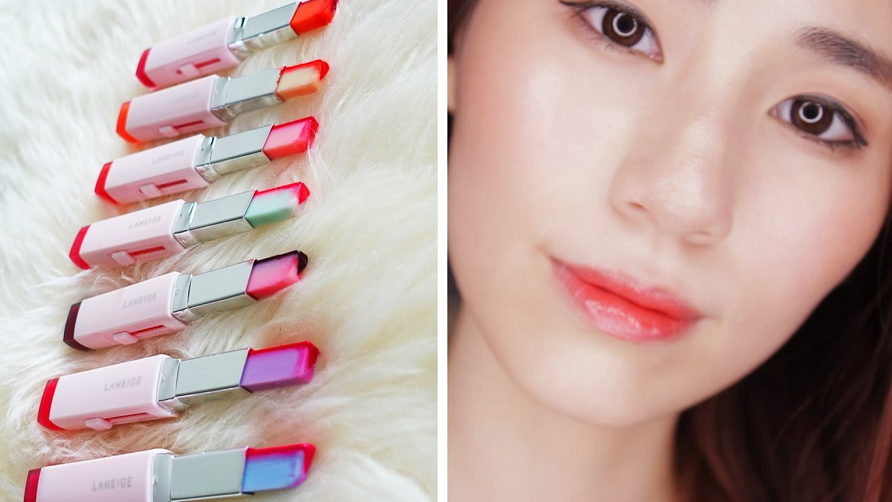 Laneige Two Tone Lip Bar co bang mau son da dang]