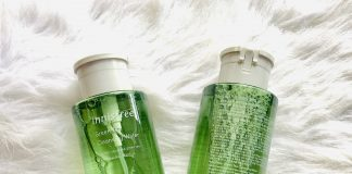 nuoc tay trang Innisfree review