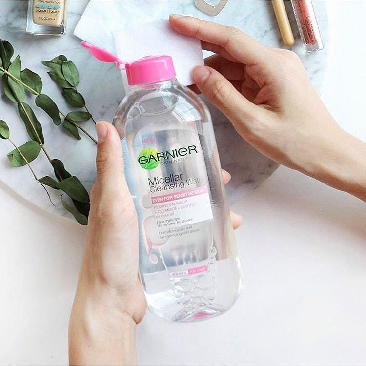 nước tẩy trang garnier màu hồng về hạn sử dụng