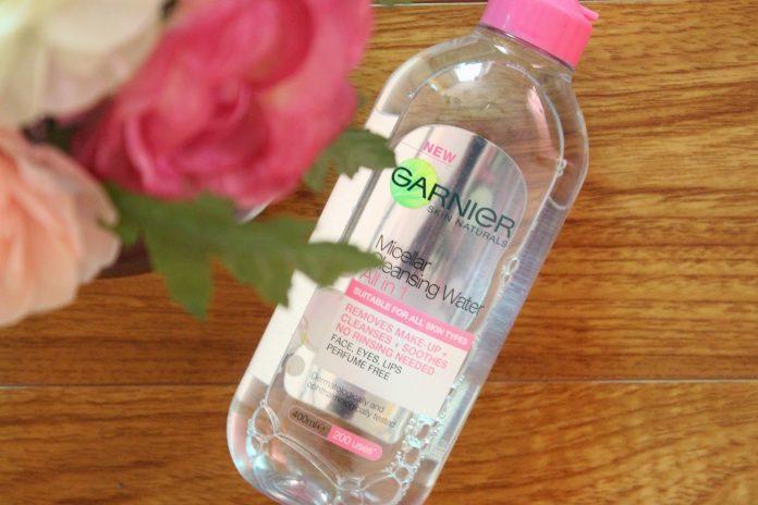 nước tẩy trang garnier màu hồng