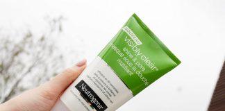 review sữa rửa mặt Neutrogena Visibly shine & pore