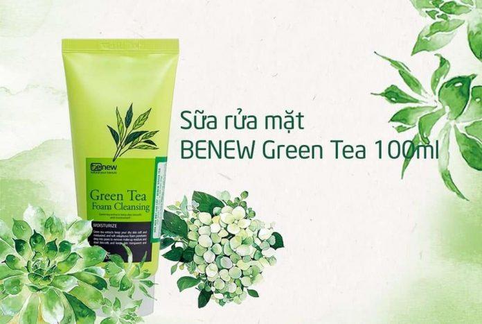 Sữa rửa mặt Benew Green Tea Review