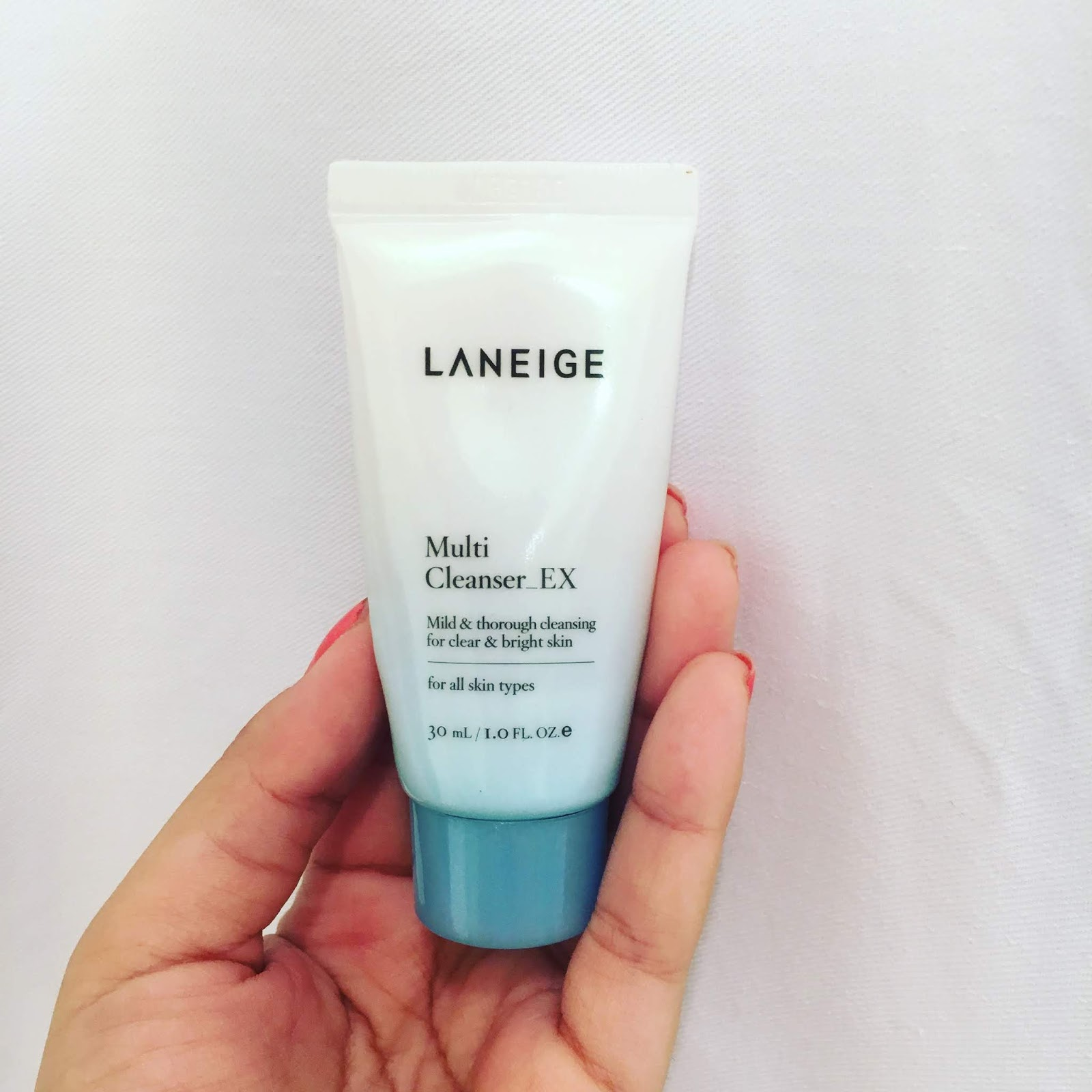 review sữa rửa mặt laneige multi cleanser về thiết kế