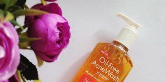 review sữa rửa mặt neutrogena oil free acne wash