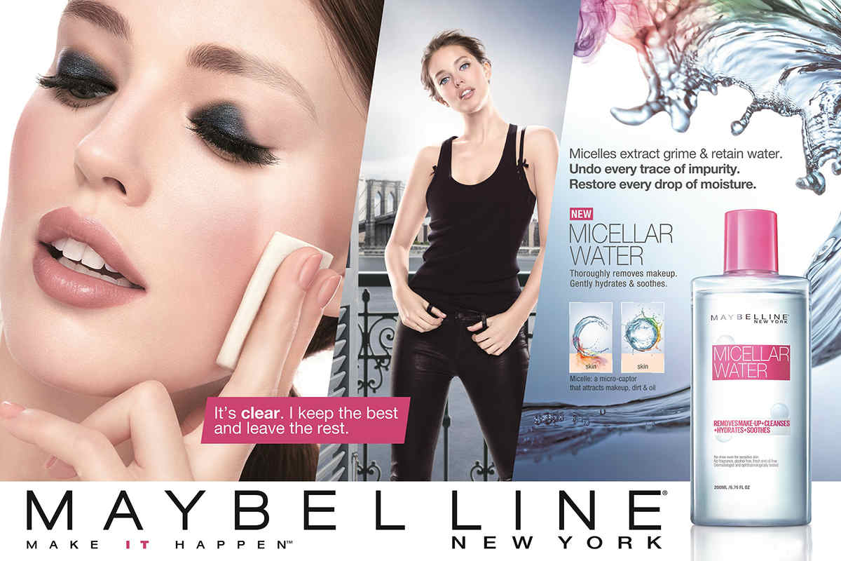 Maybelline Micellar Water Removes Make up