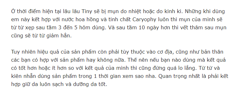 review sữa rửa mặt Carypphy
