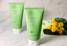 review sữa rửa mặt Innisfree Green Tea Foam Cleanser