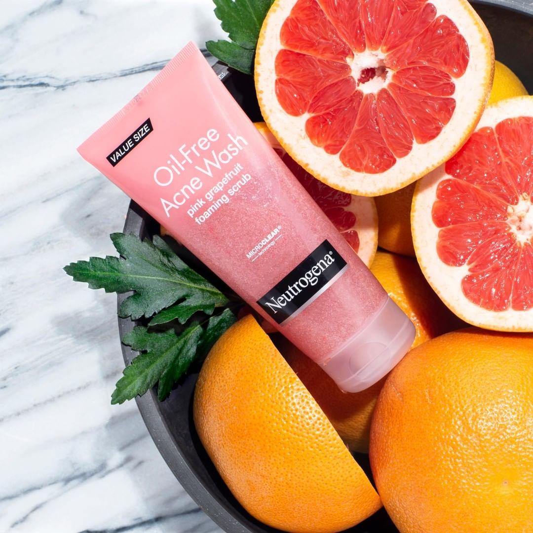 review sữa rửa mặt Neutrogena Pink Grapefruit về thiết kế