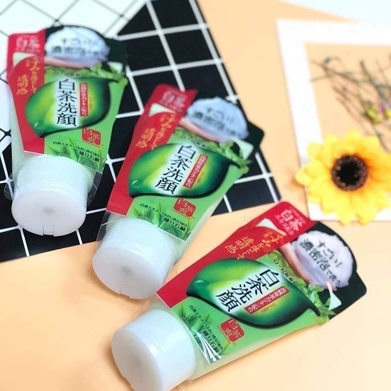 review sữa rửa mặt trà xanh shirochasou vè thành phần