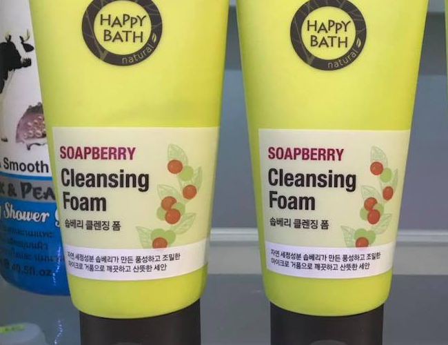 Review sua rua mat Happy Bath Soapberry ve bao bi thiet ke